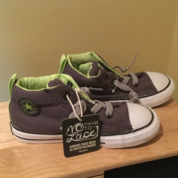 9d2a8e80c48b15 NWT Converse No Time To Lace Toddler Sneakers